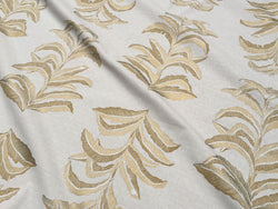 Banana Leaf Fabric in Gold