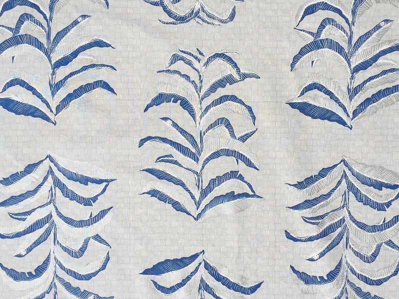 Banana Leaf Fabric in Navy