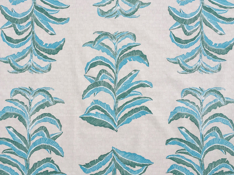 Banana Leaf Fabric in Viridian