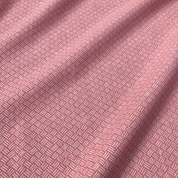 Basketweave Fabric in Coral Pink