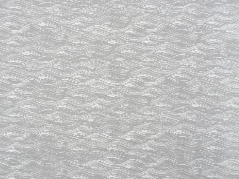 Painted Wave Fabric in French Grey