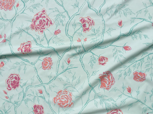 Peony Forest Fabric in Celadon