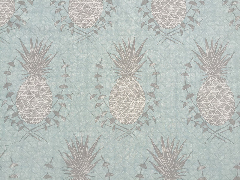 Royal Pineapple Fabric in Celadon