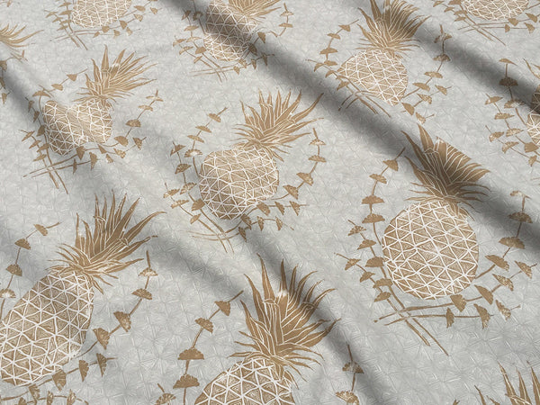 Royal Pineapple Fabric in Khaki