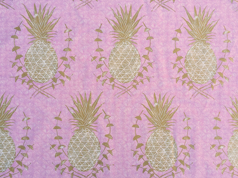 Royal Pineapple Fabric in Pink