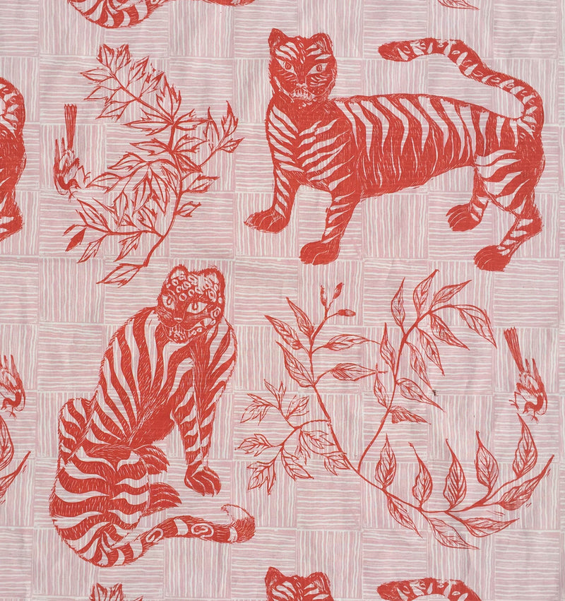 Tiger & Magpie Fabric in Carmine