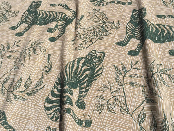 Tiger & Magpie Fabric in Hunter