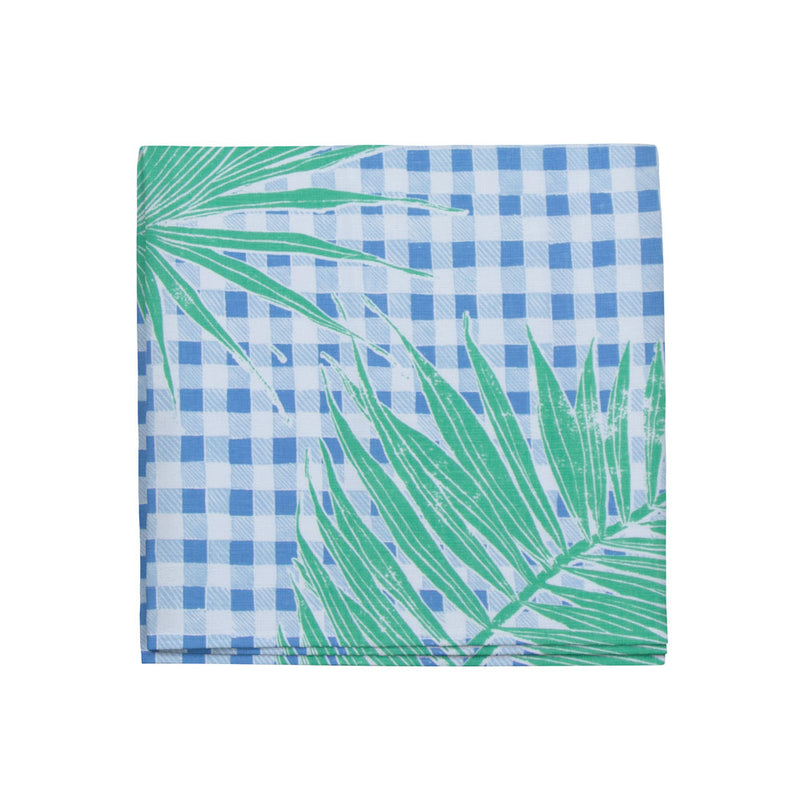 Gingham Jungle Napkins in Blue Chip Day, Set of 4