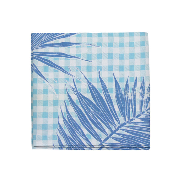 Gingham Jungle Napkins in Lapis, Set of 4