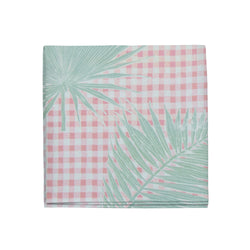 Gingham Jungle Napkins in Pink Sage, Set of 4