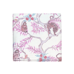 Monkey and Tiger Napkins in Dawn, Set of 4