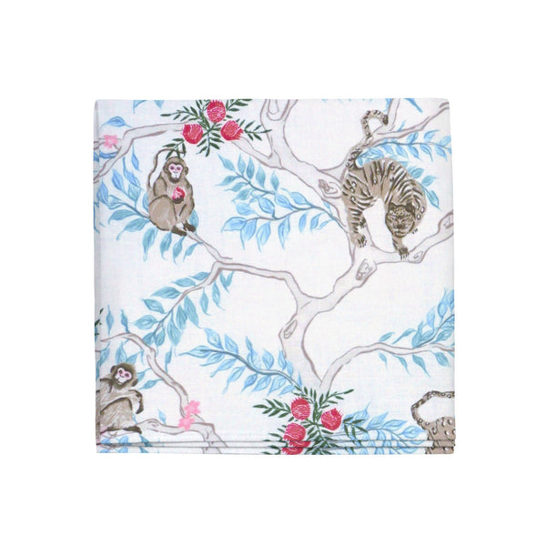 Monkey and Tiger Napkins in Day, Set of 4