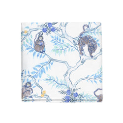 Monkey and Tiger Napkins in Dusk, Set of 4