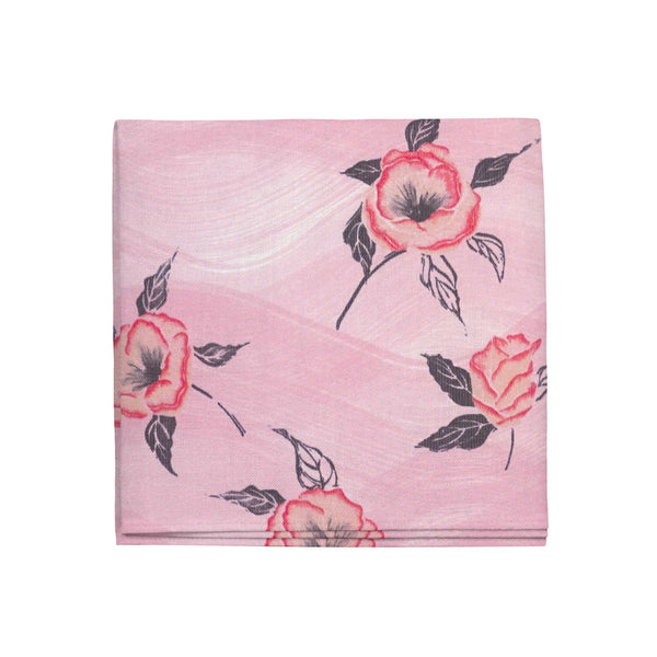 Painted Poppy Napkins in Strawberry, Set of 4