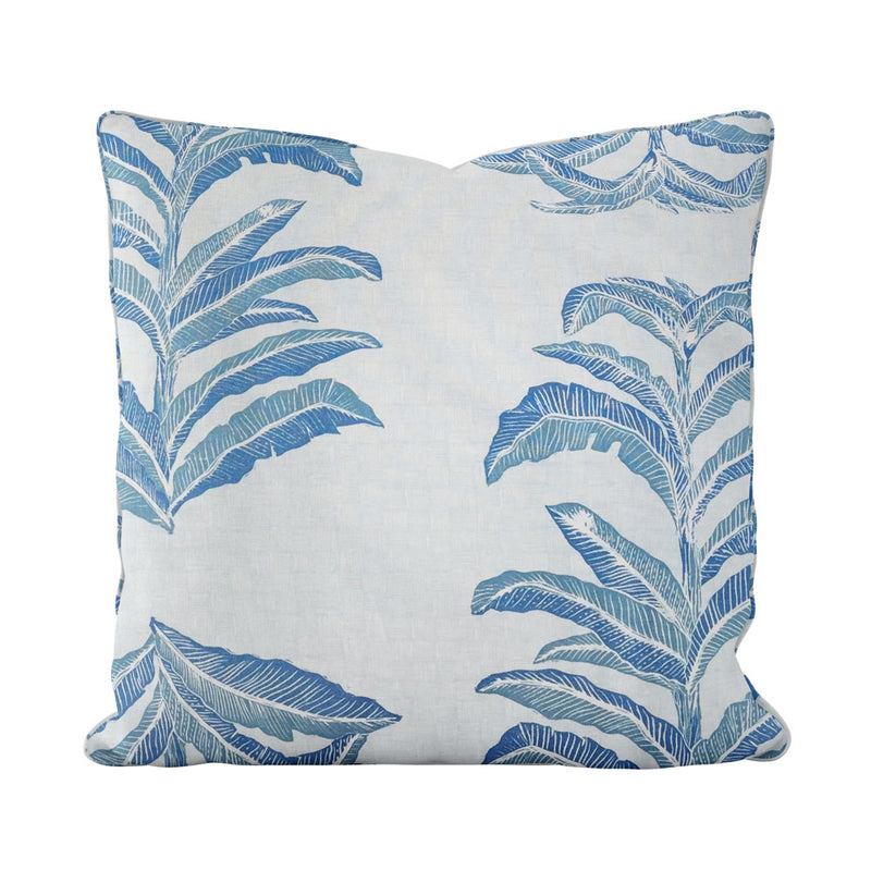 Banana Leaf Pillow in Sapphire