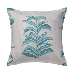 Banana Leaf Pillow in Viridian