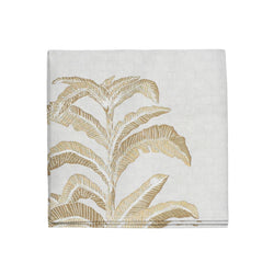 Banana Leaf Napkins in Gold, Set of 4