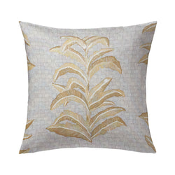 Banana Leaf Pillow in French Grey