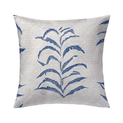 Banana Leaf Pillow in Navy