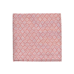 Basketweave Napkins in Coral Pink, Set of 4