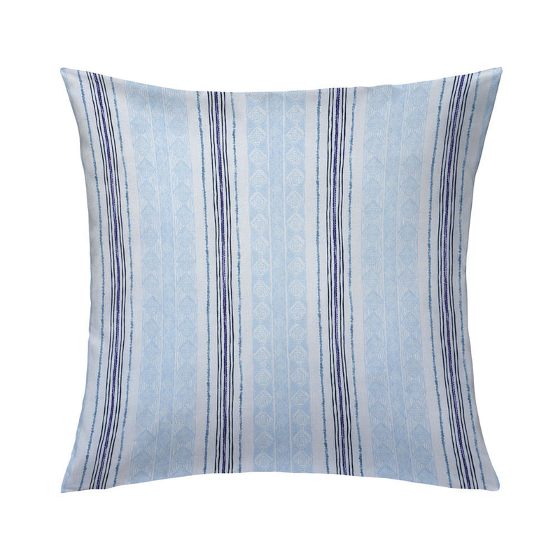 Block Print Stripe Pillow in Blueberry