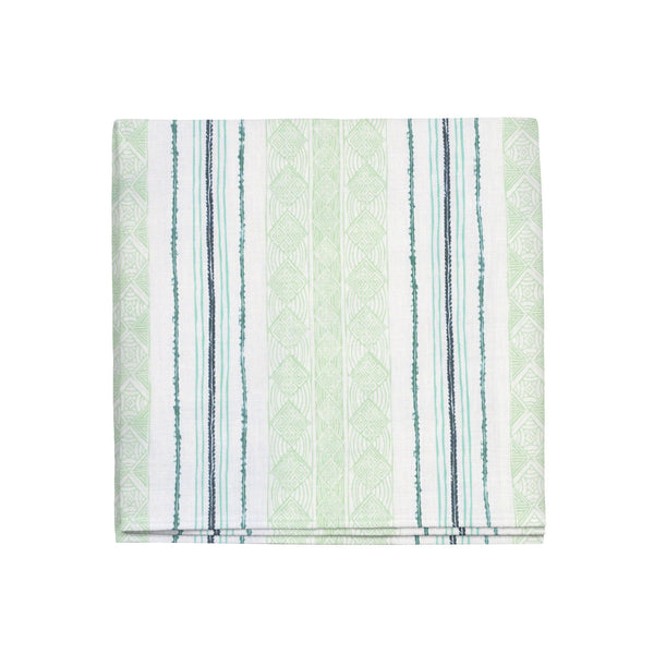 Block Print Stripe Napkins in Celery, Set of 4
