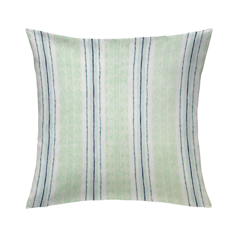 Block Print Stripe Pillow in Celery