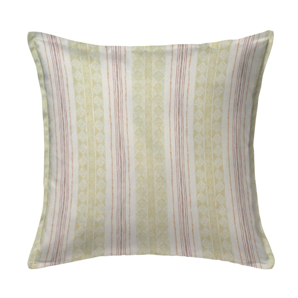 Block Print Stripe Pillow in Saffron