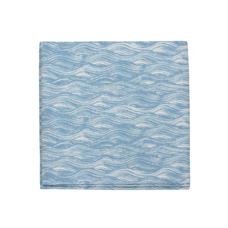 Painted Wave Napkins in Lake, Set of 4