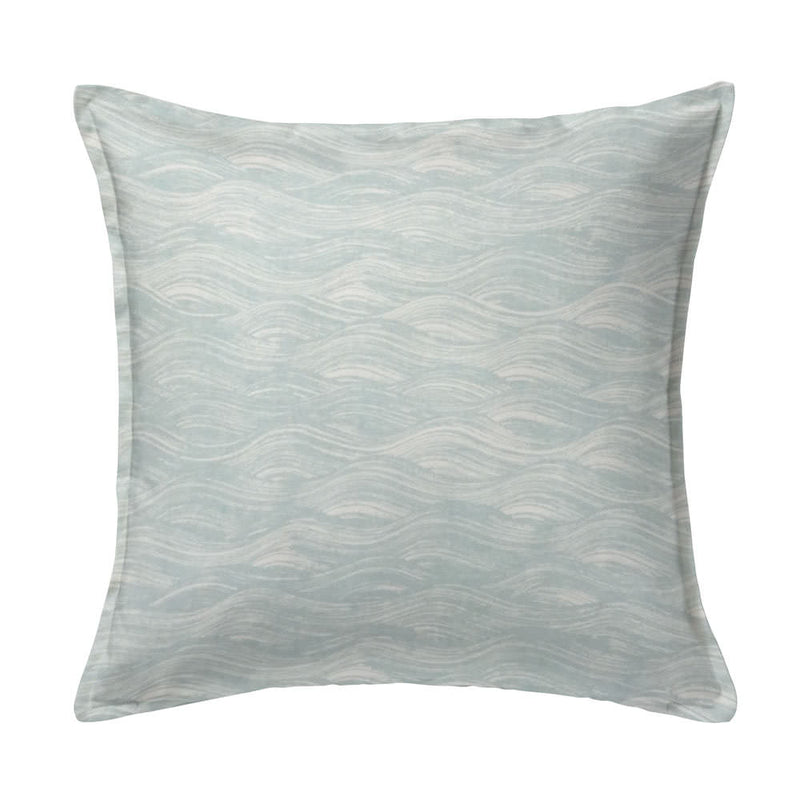 Painted Wave Pillow in Celadon