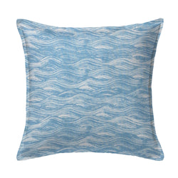Painted Wave Pillow in Lake