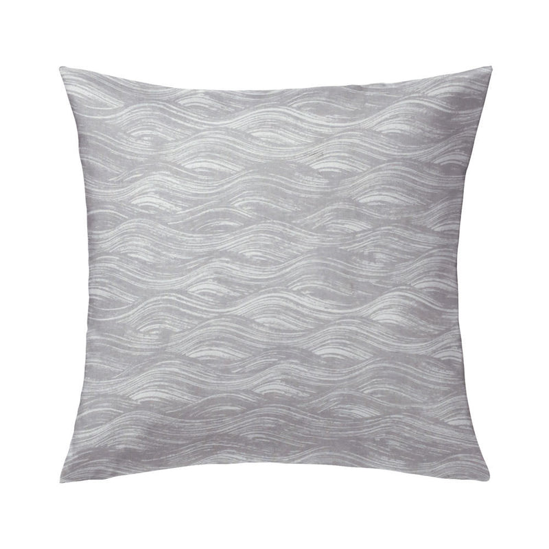 Painted Wave Pillow in French Grey