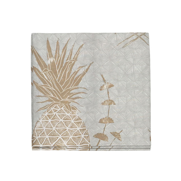 Royal Pineapple Napkins in Khaki, Set of 4