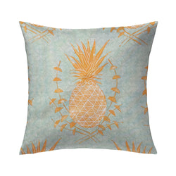 Royal Pineapple Pillow in Saffron