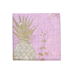 Royal Pineapple Napkins in Pink, Set of 4