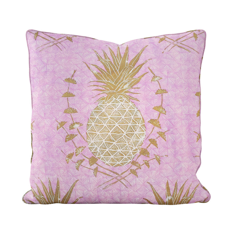Royal Pineapple Pillow in Pink