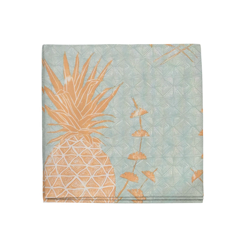 Royal Pineapple Napkins in Saffron, Set of 4