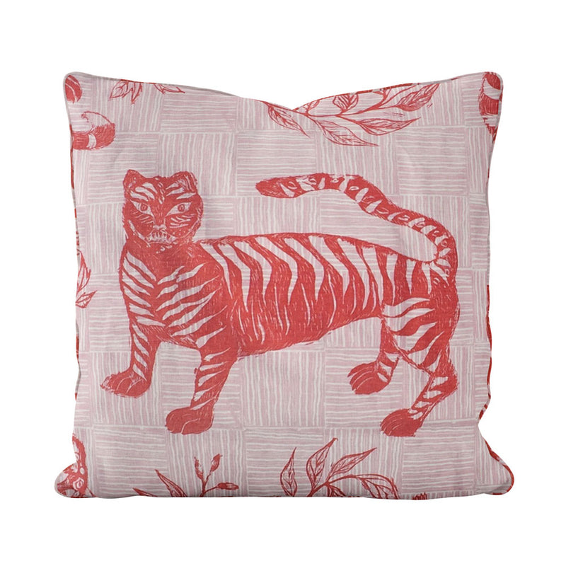 Tiger & Magpie Pillow in Carmine