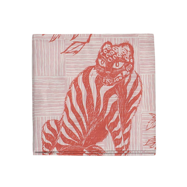 Tiger & Magpie Napkins in Carmine, Set of 4