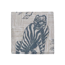 Tiger & Magpie Napkins in Deep Blue, Set of 4