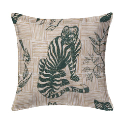 Tiger & Magpie Pillow in Hunter