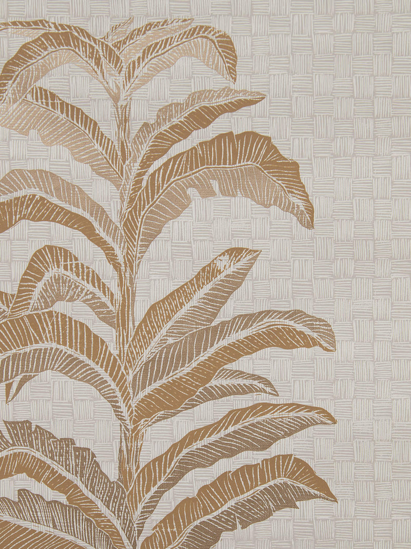 Banana Leaf Wallpaper in Gold