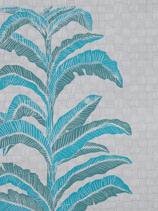 Banana Leaf Wallpaper in Viridian