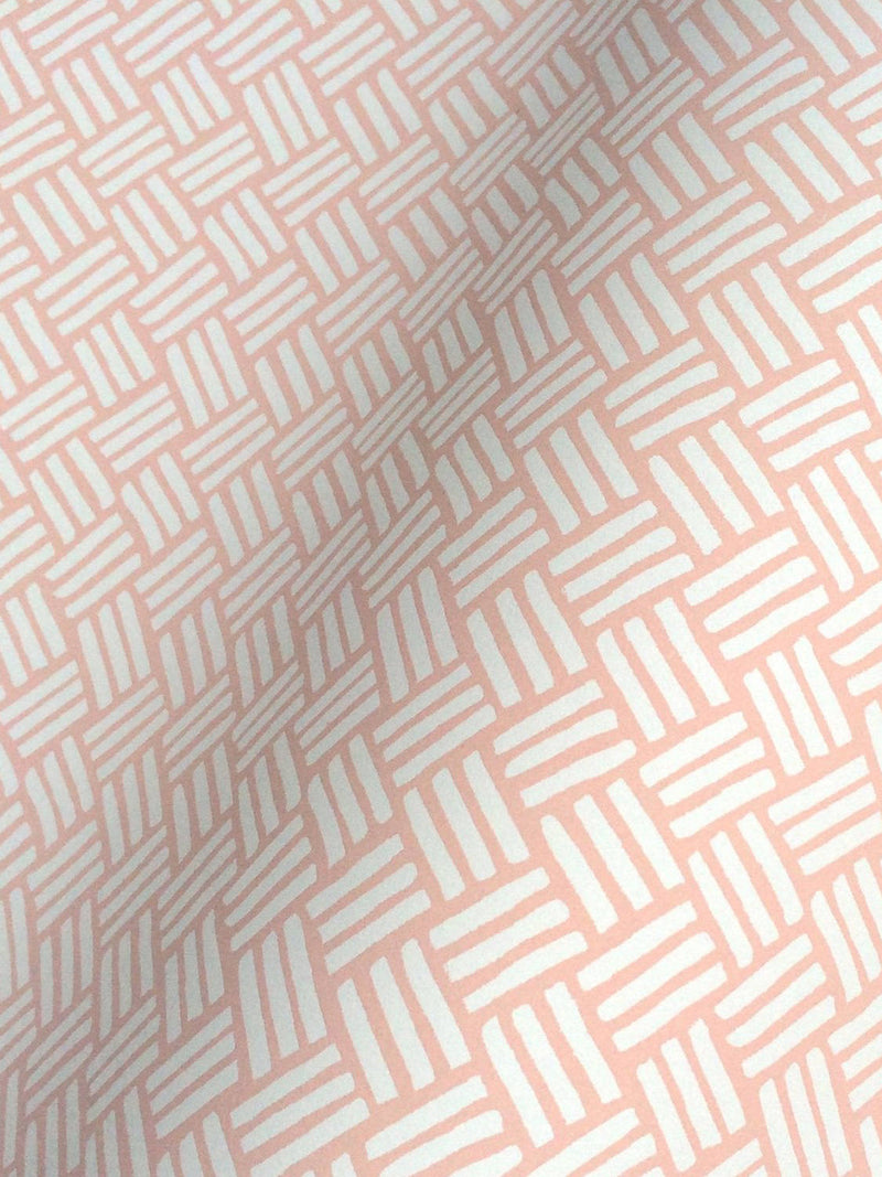 Basketweave Wallpaper in Blush