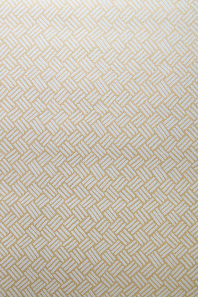 Basketweave Wallpaper in Gilded