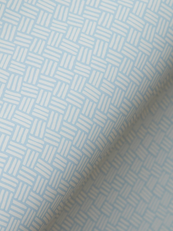 Basketweave Wallpaper in Iceberg