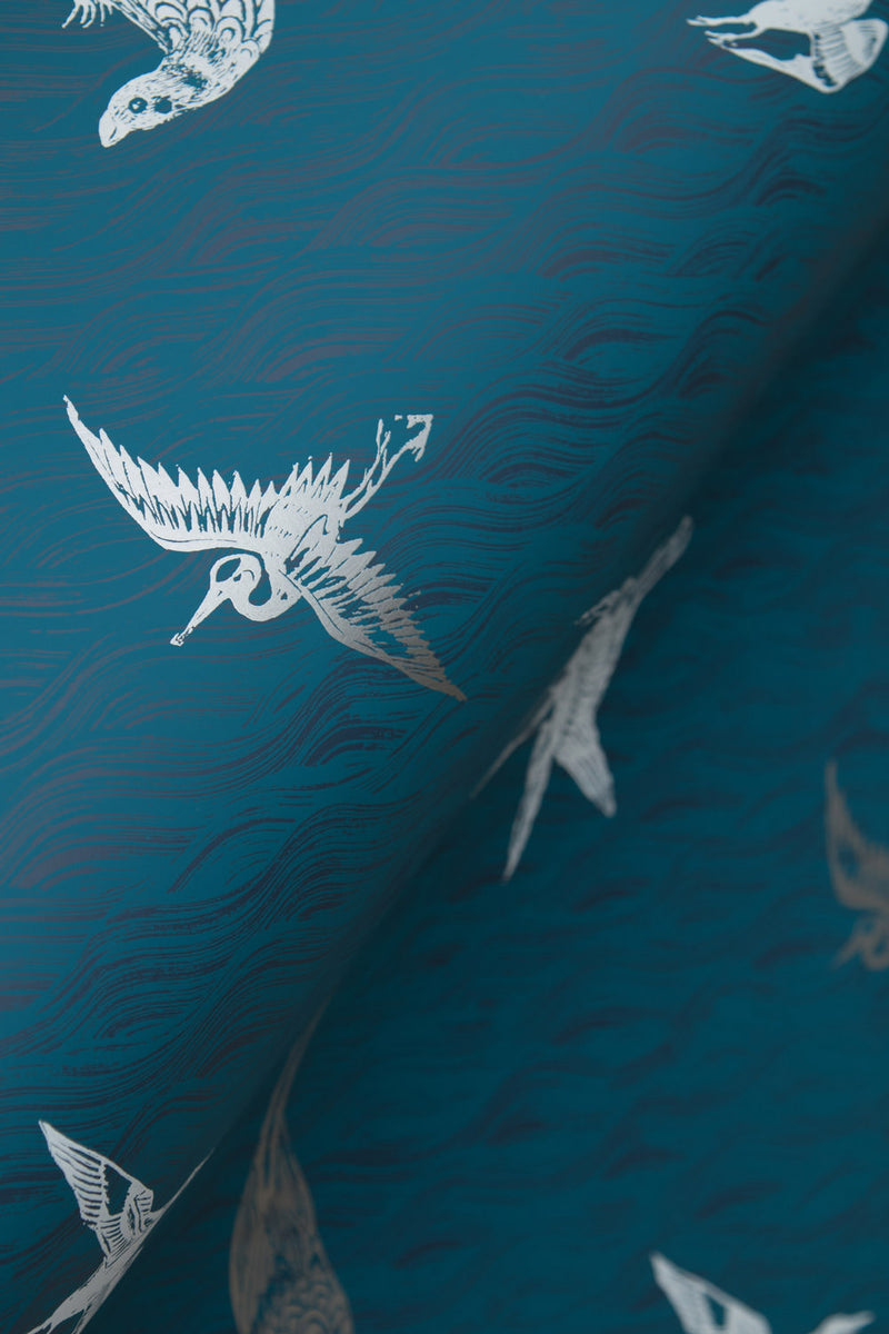 Birds Wallpaper in Azure