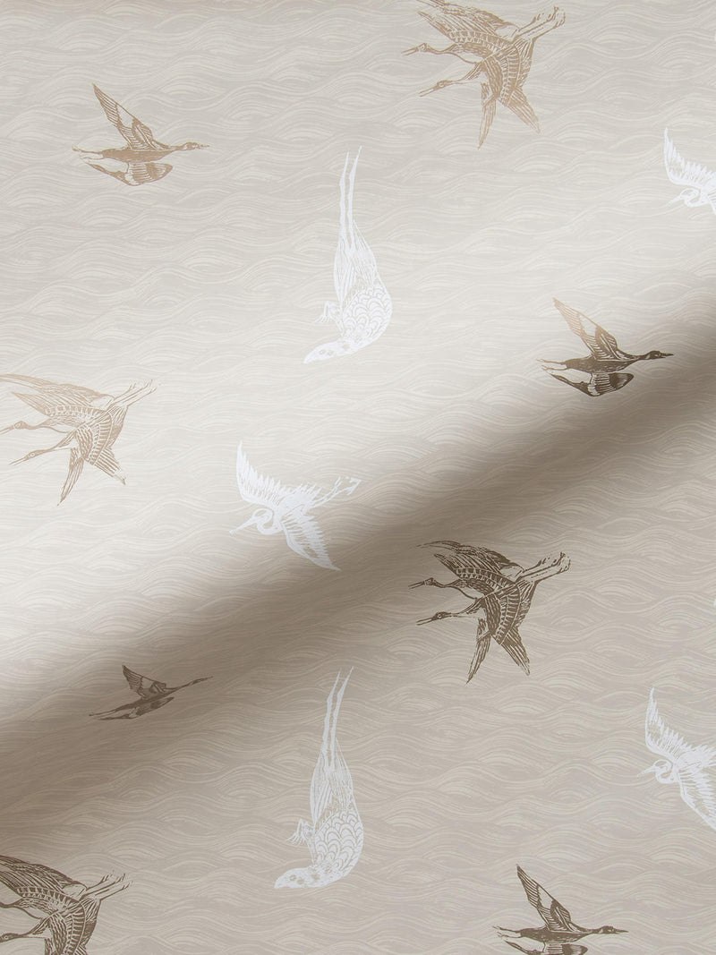 Birds Wallpaper in Dune