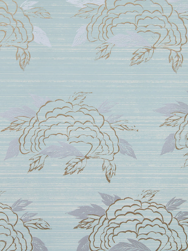 Chrysanthemum Wallpaper in Celadon