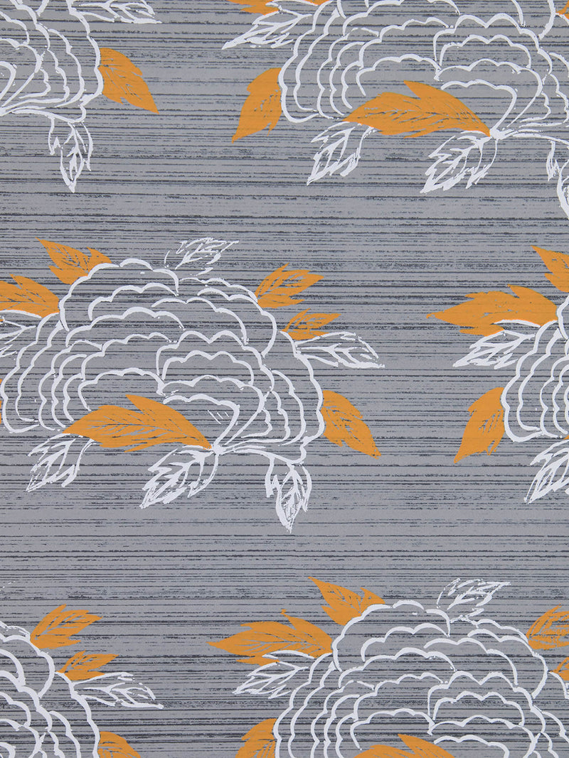 Chrysanthemum Wallpaper in French Grey